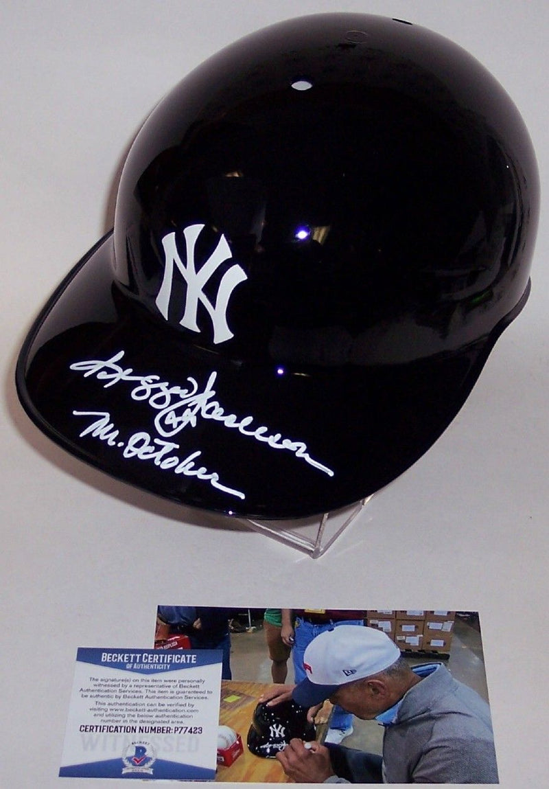 Reggie Jackson Autographed Hand Signed NY Yankees Full Size Authentic Batting Helmet - BAS Beckett PSM-Powers Sports Memorabilia