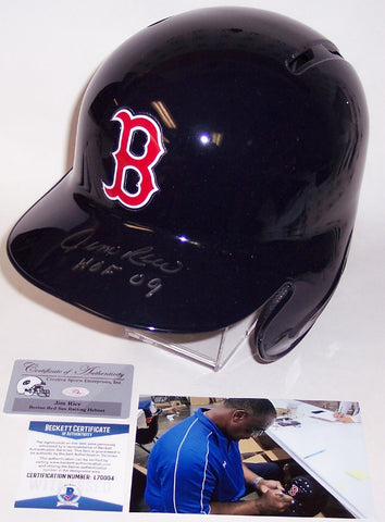 Jim Rice Autographed Hand Signed Boston Red Sox Full Size Batting Helmet - BAS Beckett PSM-Powers Sports Memorabilia