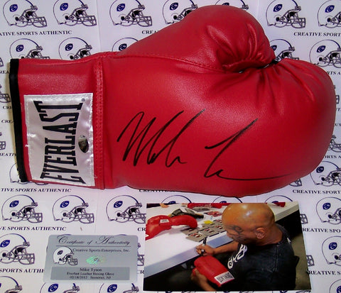 Mike Tyson Hand Signed Everlast Boxing Glove - PSA/DNA PSM