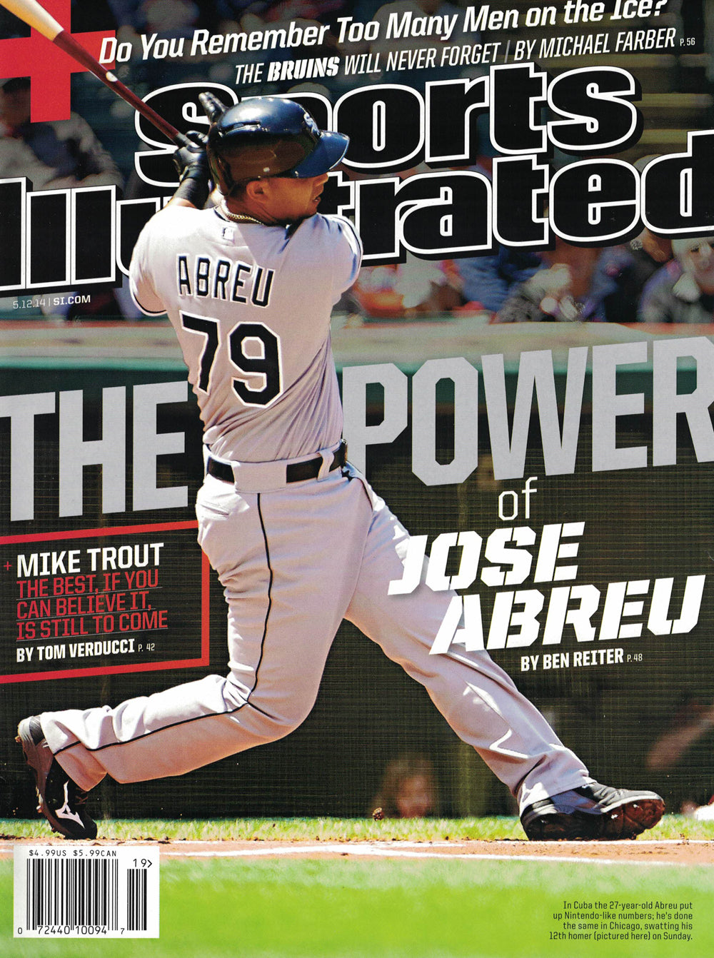 Jose Abreu Regional Newstand Sports Illustrated Magazine 5/12/14 No Label PSM-Powers Sports Memorabilia