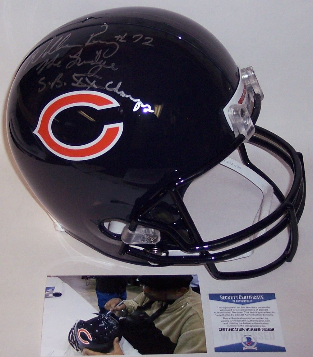 Mike Ditka Autographed Hand Signed Chicago Bears Full Size Helmet - BAS Beckett Authentication PSM-Powers Sports Memorabilia
