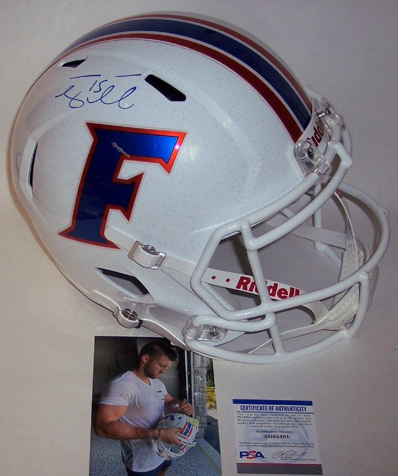 Tim Tebow Autograhed Hand Signed Florida Gators White Speed Full Size Helmet - PSA/DNA PSM-Powers Sports Memorabilia