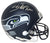 Shaun Alexander Autographed/Signed Seattle Seahawks Mini Helmet BAS PSM-Powers Sports Memorabilia