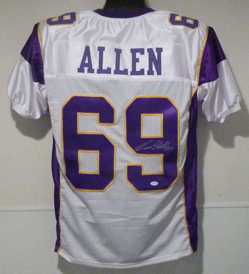 Jared Allen Autographed Minnesota Vikings white Size XL jersey PSM-Powers Sports Memorabilia