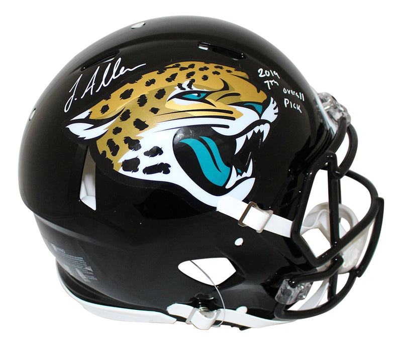 Josh Allen Signed Jacksonville Jaguars Authentic Speed Helmet 7th Pick JSA PSM-Powers Sports Memorabilia