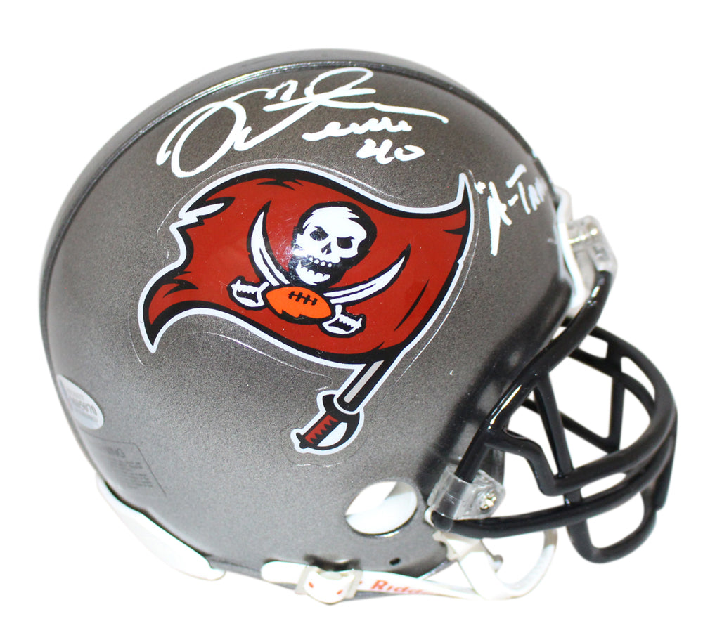 Mike Alstott Signed Tampa Bay Buccaneers Mini Helmet A-Train BAS PSM-Powers Sports Memorabilia
