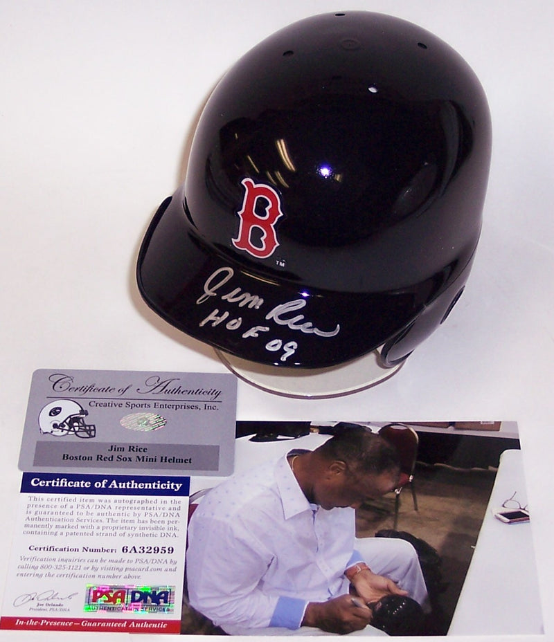 Jim Rice Autographed Hand Signed Boston Red Sox Mini Helmet - PSA/DNA PSM-Powers Sports Memorabilia