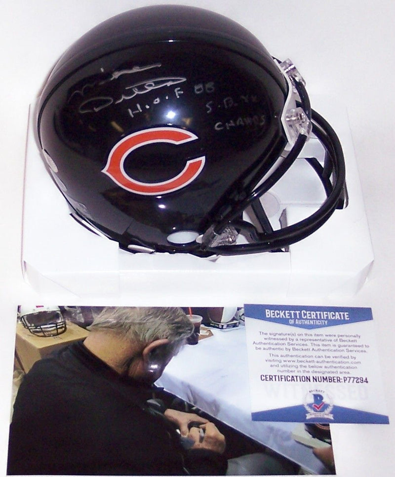 Mike Ditka Autographed Hand Signed Bears Mini Helmet - BAS Beckett PSM-Powers Sports Memorabilia