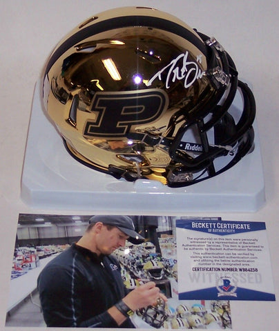 8ba69a987ab Drew Brees Autographed Hand Signed Purdue Boilermakers Chrome Speed Mini  Helmet - BAS Beckett PSM