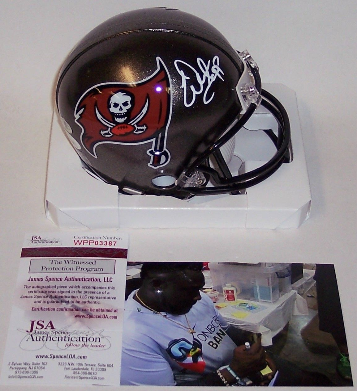 Warren Sapp Autographed Hand Signed Tampa Bay Bucs Mini Helmet - JSA PSM-Powers Sports Memorabilia