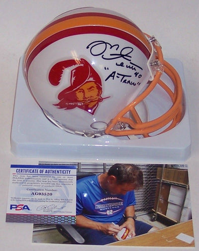 Mike Alstott Autographed Hand Signed Bucs Mini Helmet - PSA/DNA PSM-Powers Sports Memorabilia