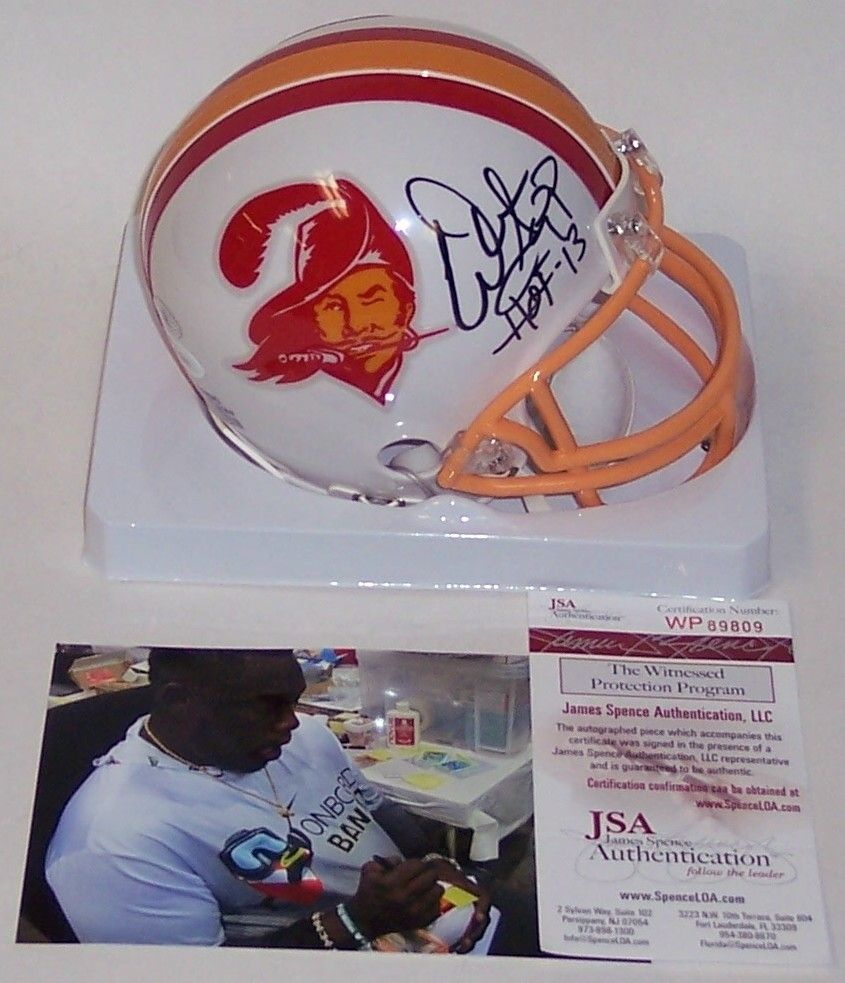 Warren Sapp Autographed Hand Signed Tampa Bay Bucs Throwback Mini Helmet - JSA PSM
