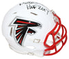 Morten Anderson Signed Atlanta Falcons Flat White Mini Helmet HOF BAS PSM-Powers Sports Memorabilia