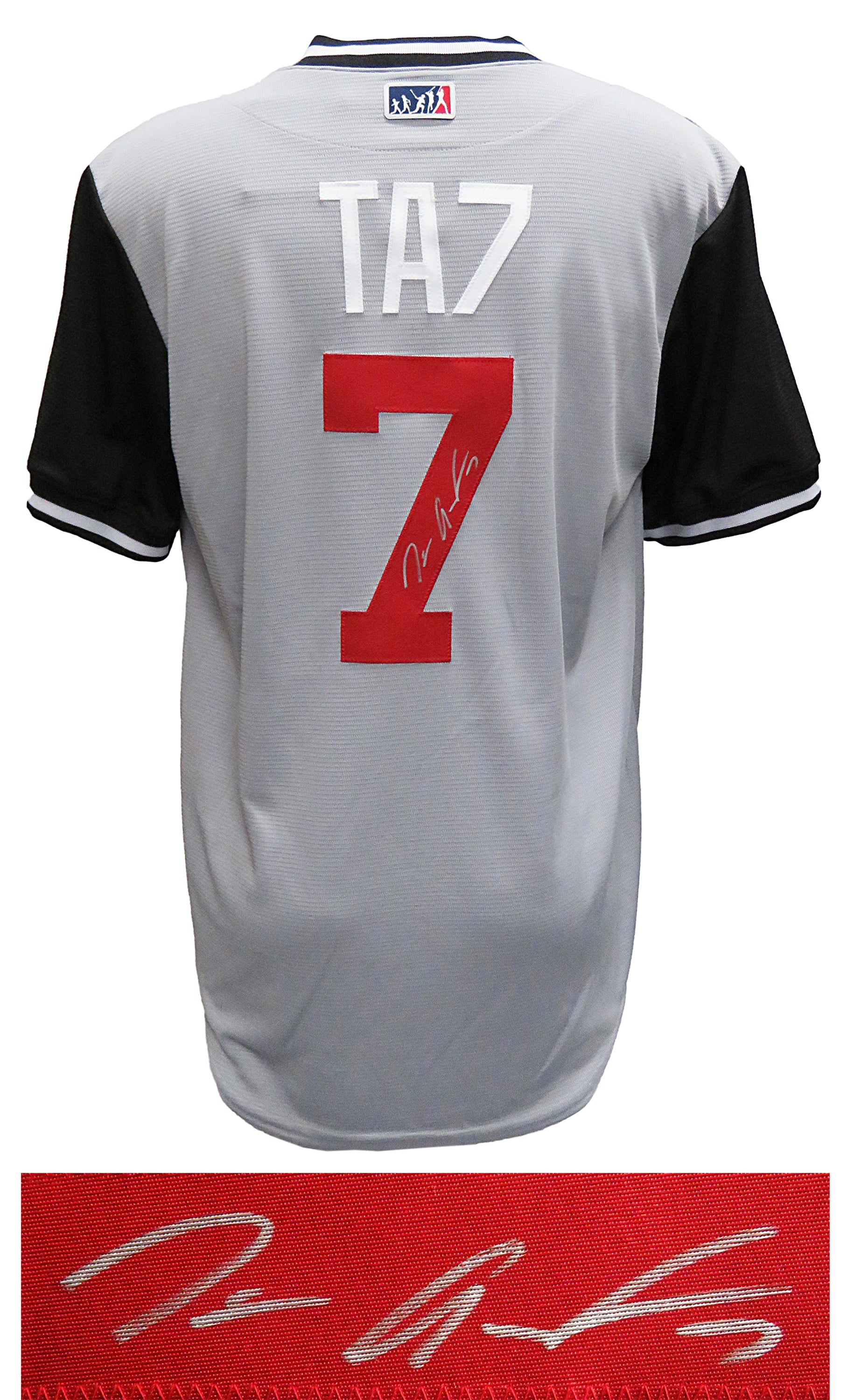 Tim Anderson Signed Chicago White Sox Nickname 'TA7' Grey Majestic Baseball Jersey PSM-Powers Sports Memorabilia
