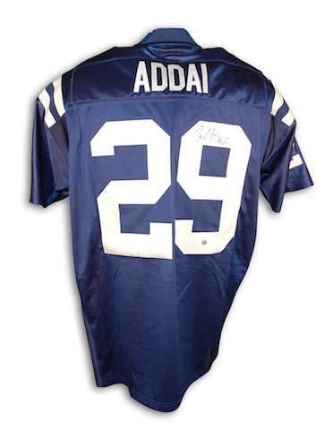 Autographed Joseph Addai Indianapolis Colts Blue Authentic Reebok Jersey PSM-Powers Sports Memorabilia