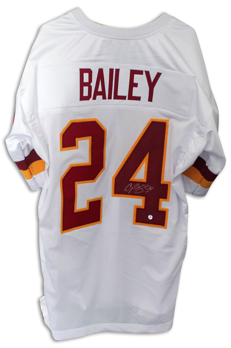 Champ Bailey Washington Redskins Autographed White Jersey PSM-Powers Sports Memorabilia
