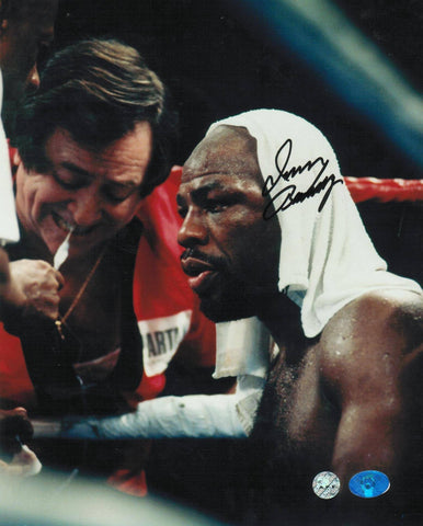 Iran Barkley Autographed Boxing 8x10 Photo -Sitting- PSM-Powers Sports Memorabilia
