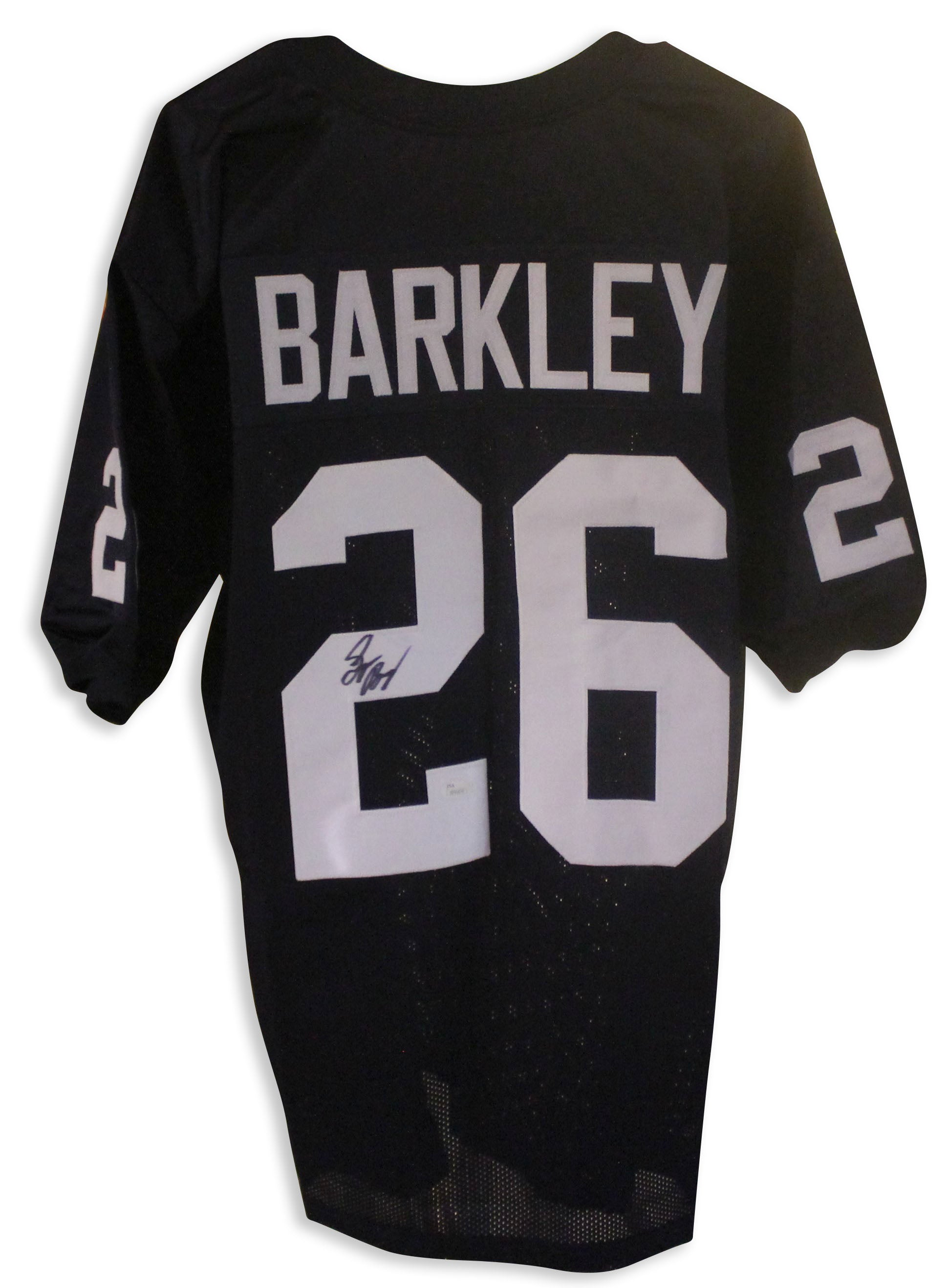 new style c83ab 00dd6 Saquon Barkley Penn State Nittany Lions Autographed Navy Blue Jersey. This  includes his Rare Full signature and comes with a COA from JSA. PSM