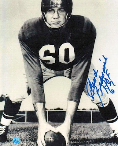 "Autographed Chuck Bednarik Black and White 8x10 Photo Inscribed ""HOF 67"" PSM-Powers Sports Memorabilia"