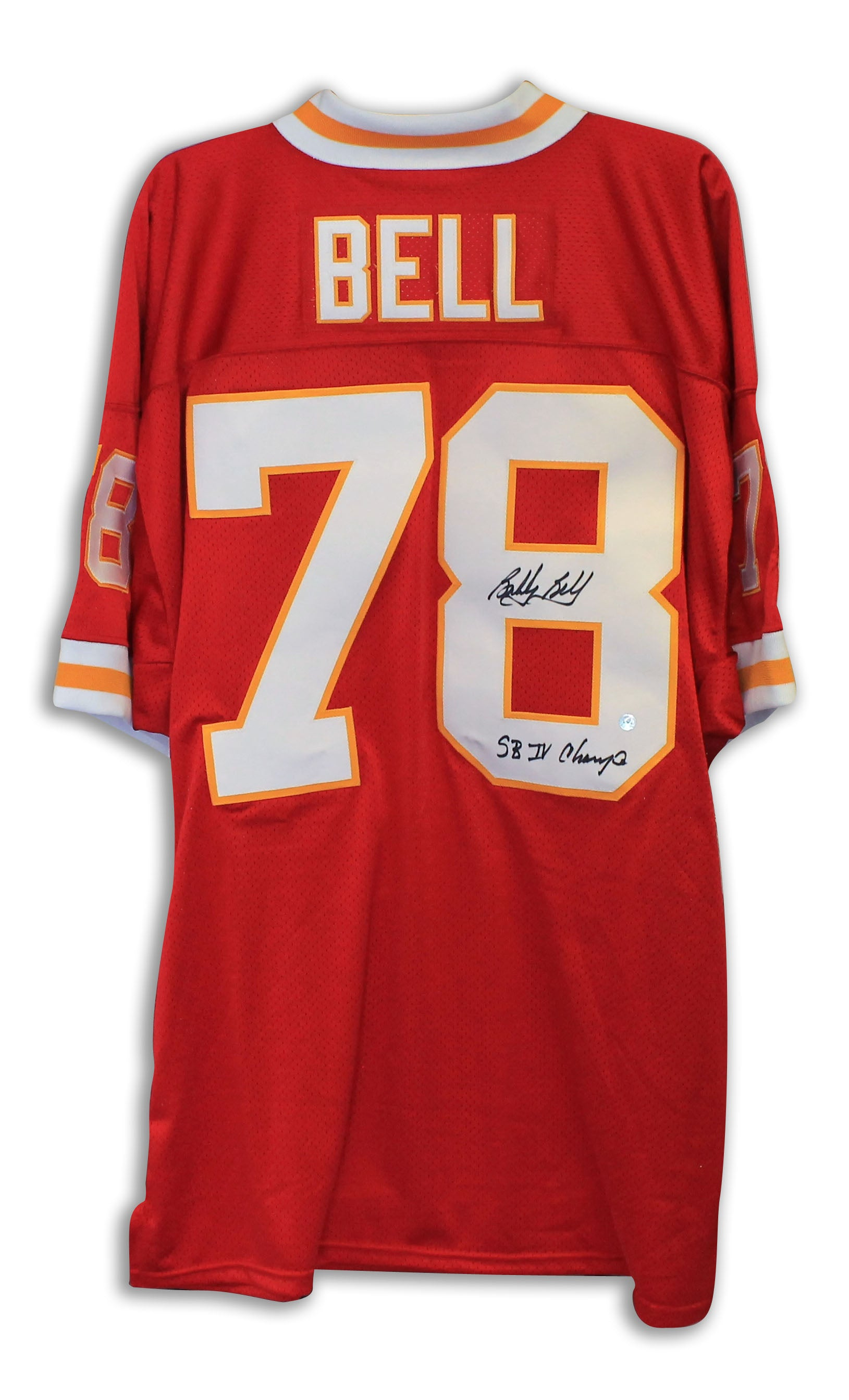 buy popular 9b6d9 965fa Bobby Bell Kansas City Chiefs Autgraphed Red Throwback Jersey Inscribed