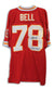 "Bobby Bell Kansas City Chiefs Autgraphed Red Throwback Jersey Inscribed ""SB IV Champs"" PSM-Powers Sports Memorabilia"