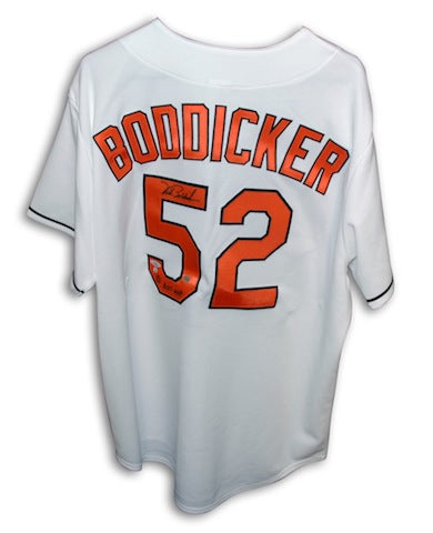 "Autographed Mike Boddicker Baltimore Orioles Majestic White Jersey Inscribed ""83 ALCS MVP"" PSM-Powers Sports Memorabilia"