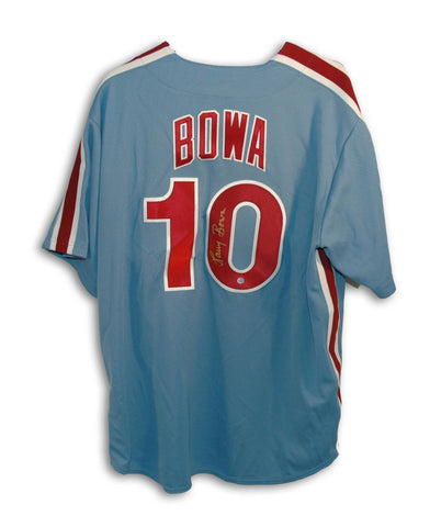 Larry Bowa Philadelphia Phillies Autographed Blue Custom Jersey PSM-Powers Sports Memorabilia