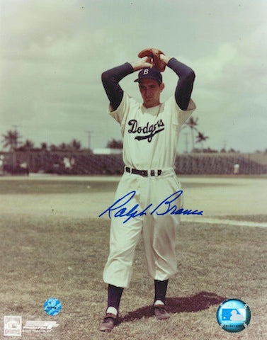 Autographed Ralph Branca Brooklyn Dodgers 8x10 Photo PSM-Powers Sports Memorabilia