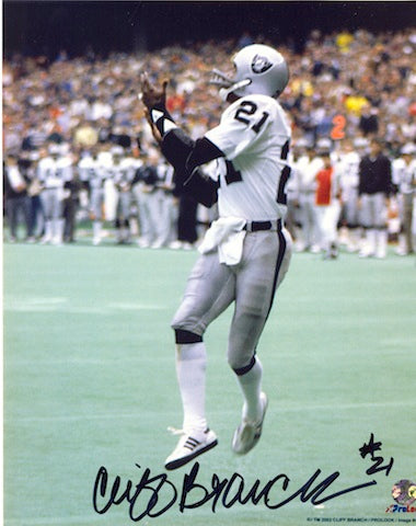 Autographed Cliff Branch Oakland Raiders 8x10 Photo PSM-Powers Sports Memorabilia