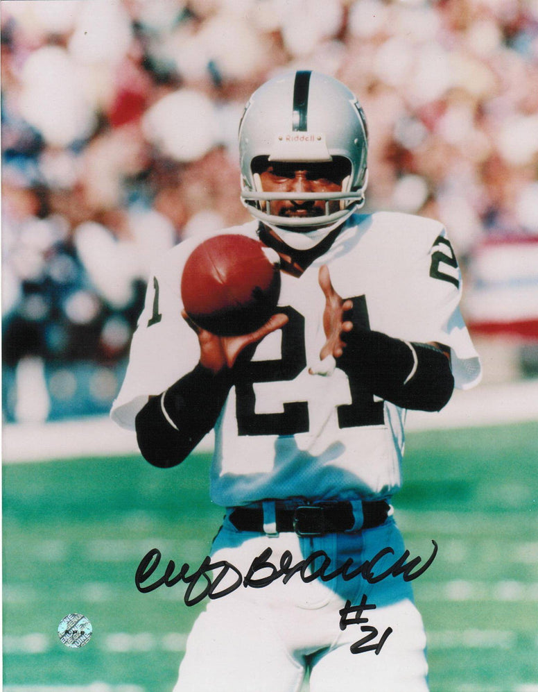 Cliff Branch Oakland Raiders Autographed 8x10 Photo -Catch- PSM-Powers Sports Memorabilia