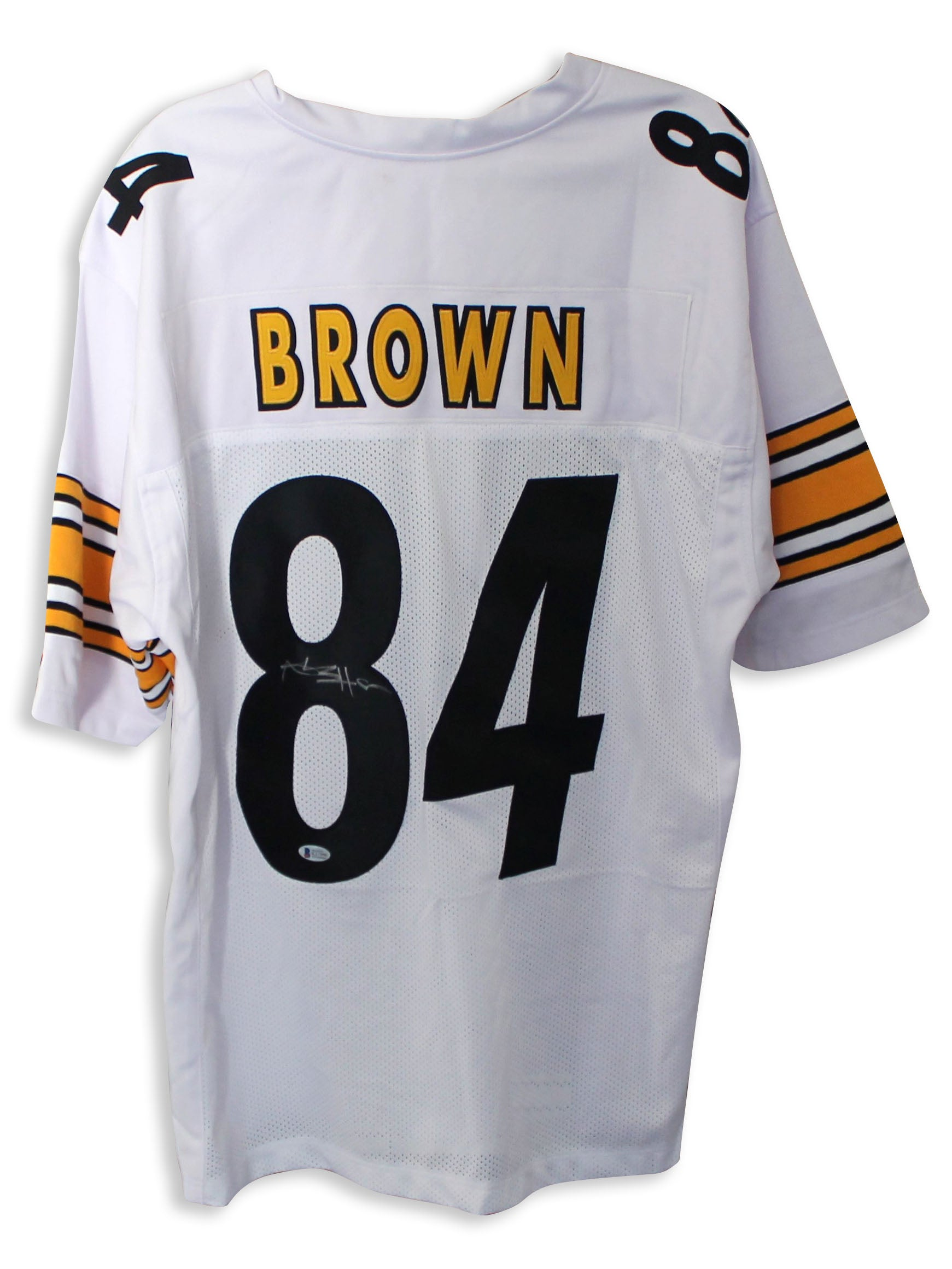 buy popular 88cc1 2a5ca Antonio Brown Pittsburgh Steelers Autographed White Jersey PSM