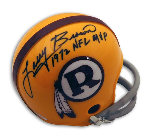 "Autographed Larry Brown Washington Redskins Mini Helmet Inscribed ""1972 NFL MVP"" PSM-Powers Sports Memorabilia"