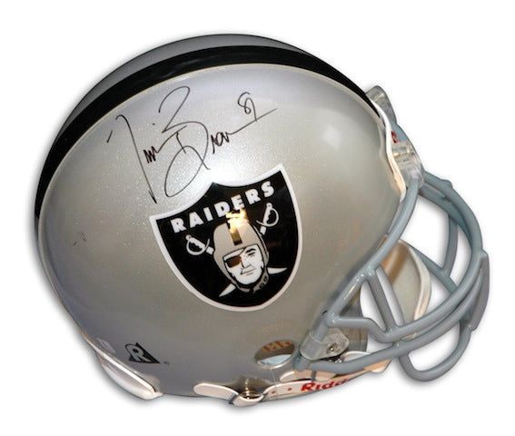 Autographed Tim Brown Oakland Raiders Proline Helmet PSM-Powers Sports Memorabilia