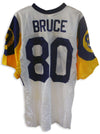 Isaac Bruce St. Louis Rams Autographed White Jersey. This jersey has a light signature. This Jersey is sold as is. PSM-Powers Sports Memorabilia