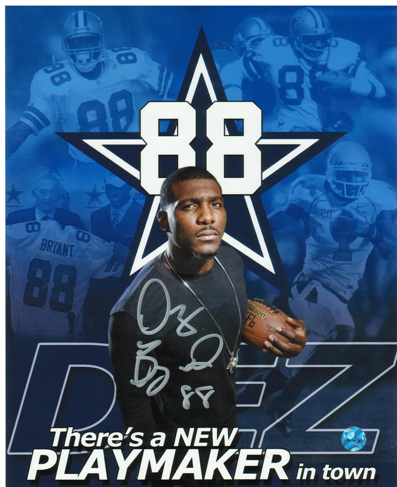Dez Bryant Dallas Cowboys Autographed 8x10 Photo PSM-Powers Sports Memorabilia