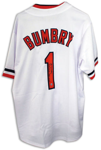 "Al Bumbry Baltimore Orioles Autographed White Jersey Inscribed ""1973 ROY & 1983 WSC"" PSM-Powers Sports Memorabilia"