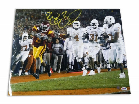 "Reggie Bush USC Trojans Autographed 16x20 Photo ""Touchdown vs Texas"" PSM-Powers Sports Memorabilia"