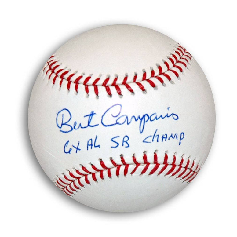 "Bert Campaneris Autographed MLB Baseball Inscribed ""6X AL SB Champ"" PSM-Powers Sports Memorabilia"