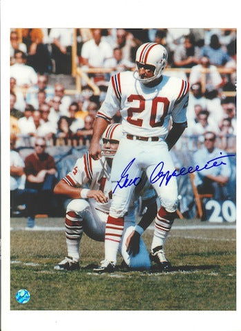 Autographed Gino Cappelletti New England Patriots 8x10 Photo PSM-Powers Sports Memorabilia
