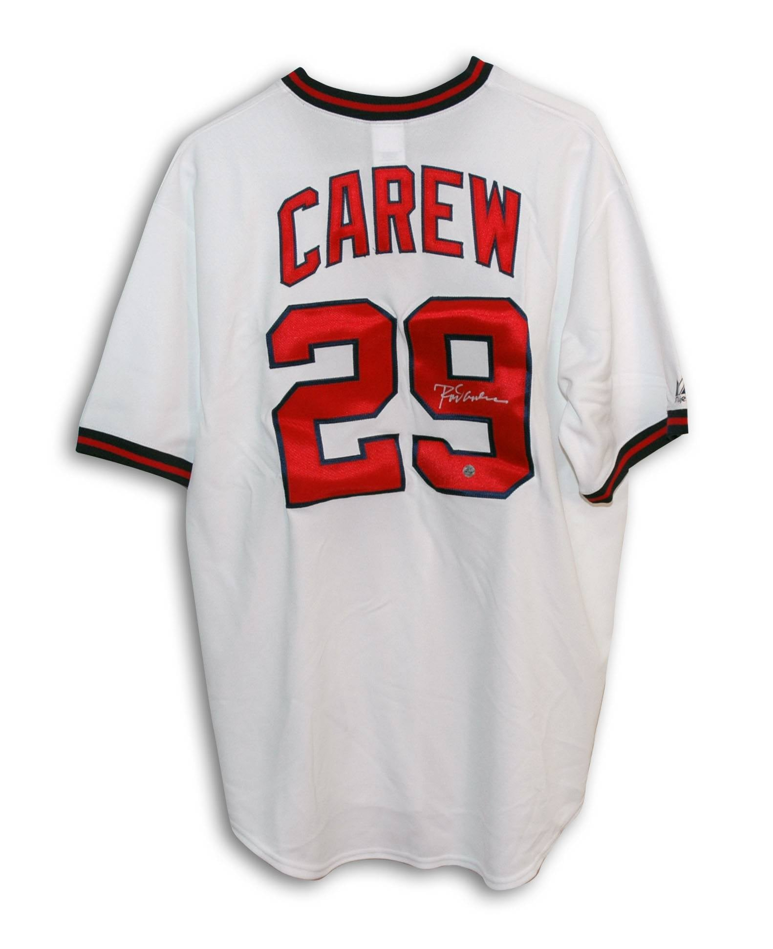 df1ef384a Rod Carew California Angels Autographed White Majestic Jersey PSM
