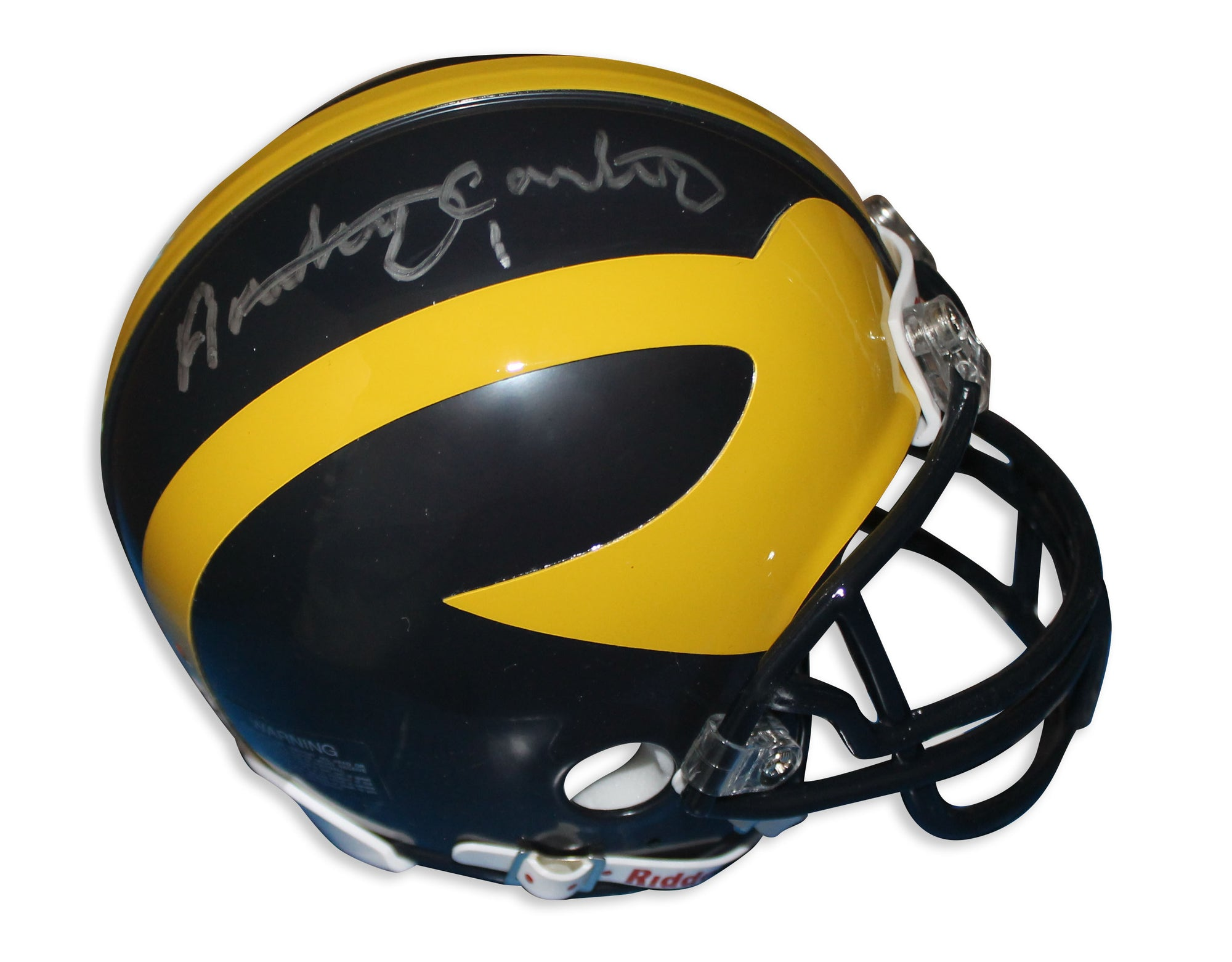 Anthony Carter Michigan Wolverines Autographed Mini Helmet PSM-Powers Sports Memorabilia