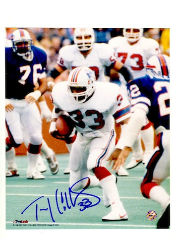 Autographed Tony Collins New England Patriots 8x10 Photo PSM-Powers Sports Memorabilia