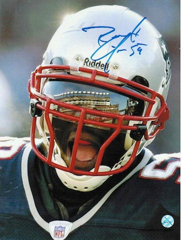 Autographed Roosevelt Colvin New England Patriots 8x10 Photo PSM-Powers Sports Memorabilia