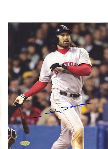 Autographed Johnny Damon Boston Red Sox 8x10 Photo PSM-Powers Sports Memorabilia