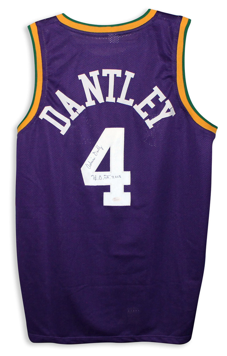 "Adrian Dantley Utah Jazz Autographed Purple Jersey Inscribed ""HOF 2008"" PSM-Powers Sports Memorabilia"