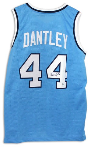 "Adrian Dantley Buffalo Braves Autographed Blue Jersey Inscribed ""77 ROY"" PSM-Powers Sports Memorabilia"