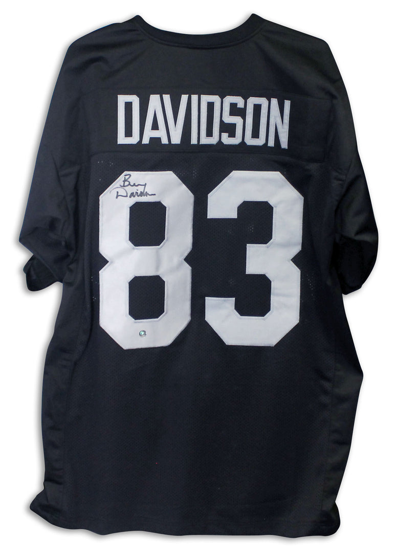 Ben Davidson Oakland Raiders Autographed Black Jersey PSM-Powers Sports Memorabilia