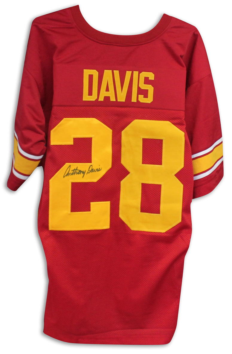 Anthony Davis USC Trojans Autographed Red Jersey PSM-Powers Sports Memorabilia