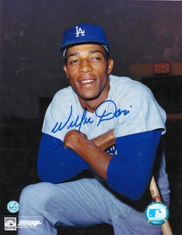 Autographed Willie Davis Los Angeles Dodgers 8x10 Photo PSM-Powers Sports Memorabilia