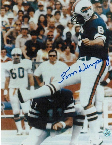 Autographed Tom Dempsey Buffalo Bills 8x10 Photo PSM-Powers Sports Memorabilia